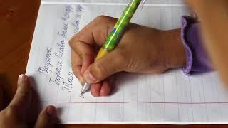 Ребенок пишет диктант под диктовку 1-2 класс