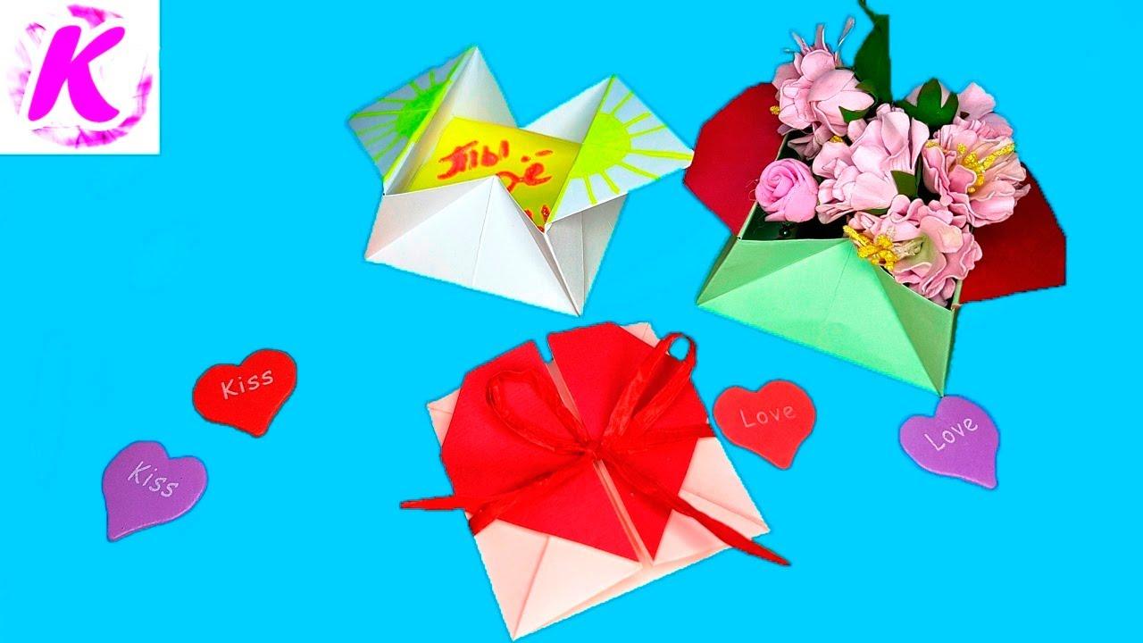 Оригами открытка с сюрпризом