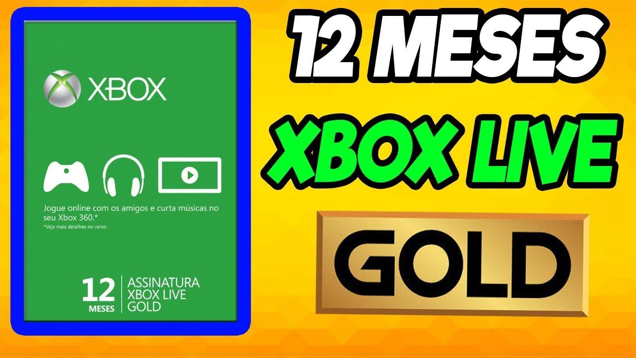 12 MESES XBOX LIVE GOLD PARA SEU XBOX 360 OU XBOX ONE SUPER BARATO CORRE  !!!!