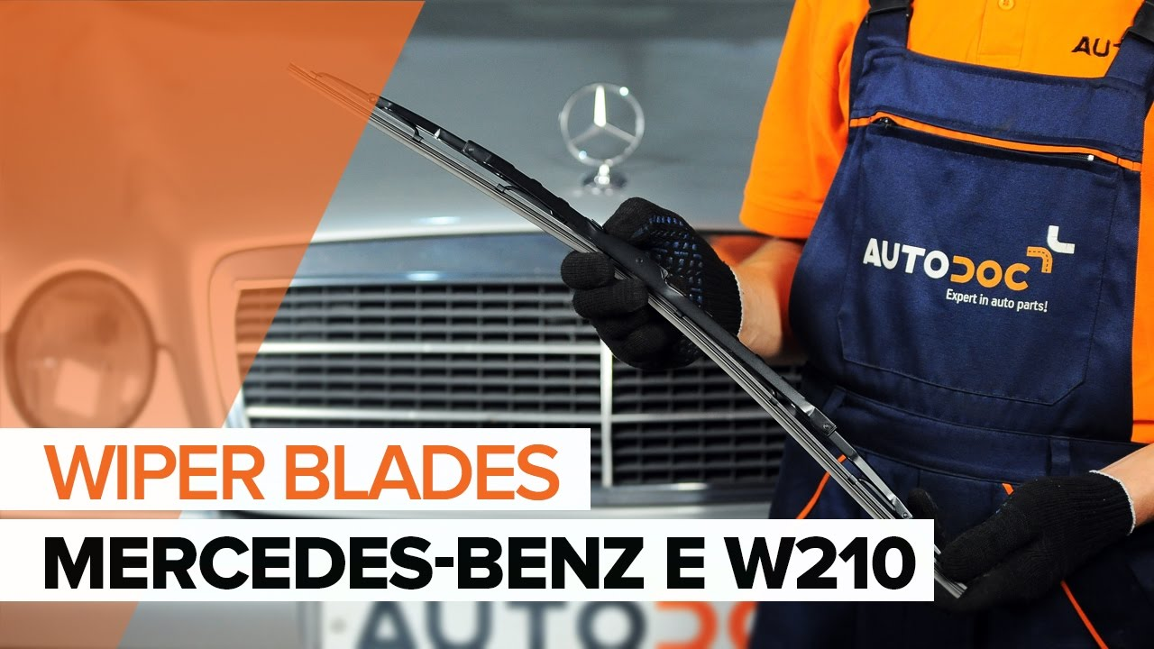 how to replace front wiper blades on mercedes benz e w210