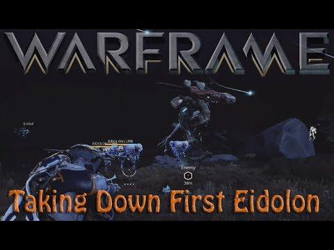Warframe - First Eidolon Encounter (How To Take It Down)