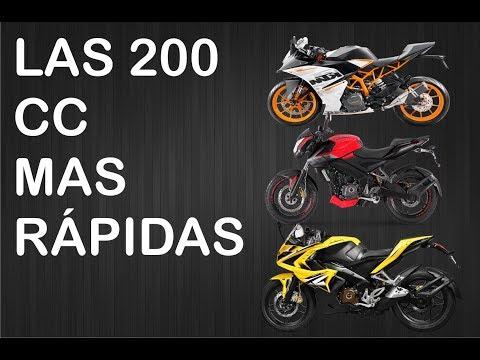 Top 5 las motos de 200 cc mas rapidas