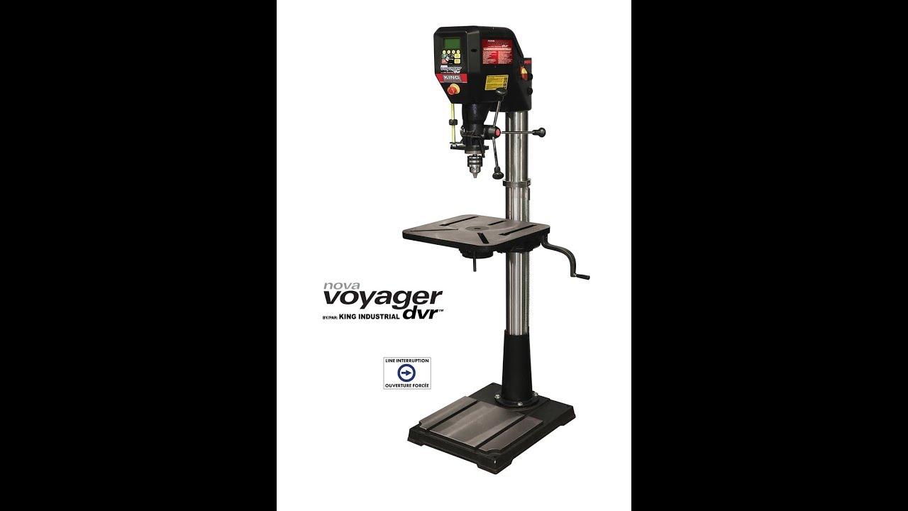 King Industrial 18 Nova Voyager Dvr Drill Press Youtube