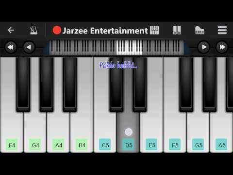 Kabhi jo badal barse (Jackpot), Arijit singh - Mobile Perfect Piano Tutorial