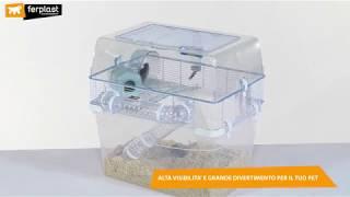 Клетка FERPLAST DUNA SPACE для хомяков, мышей, двухэтажная