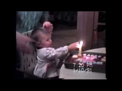 Baby touched out candle