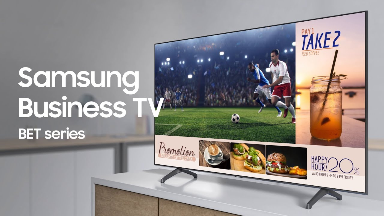 Samsung Business TV: Simply captivating