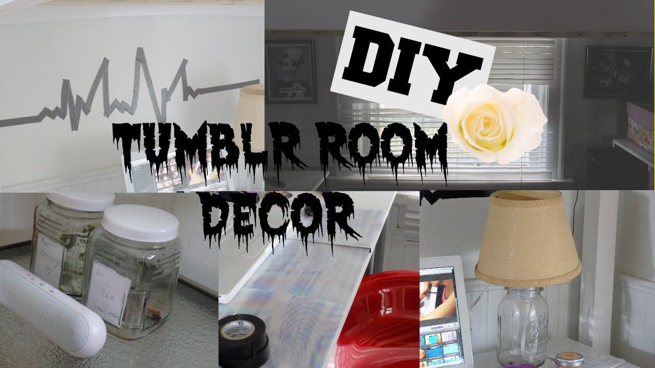 Grunge Bedroom Awesome Diy Tumblr Room Decor  Youtube Inspiration Design