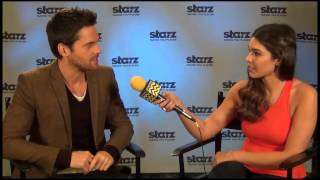 tom riley from starzs da vincis demons interview with afterbuzz tvs cathy kelley