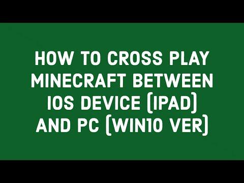 how-to-cross-play-minecraft-between-ios-device-(ipad)-and-pc-(win10-ver)