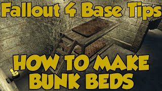 Fallout 4 Settlements - How To Make Bunk Beds!