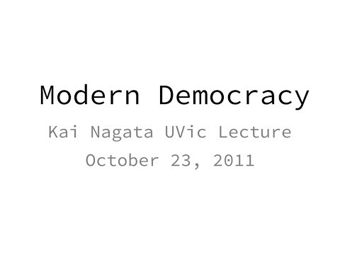Personal Review of 2011 Kai Nagata Lecture on the State of Television News