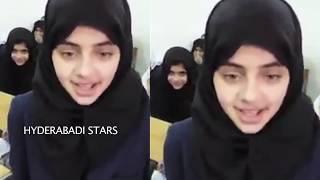 vuclip ISLAMIC SCHOOL GIRL PALYING  TRIBUTES TO THE TEACHERS ||  HYDERABADI STARS