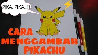 Cara menggambar pokemon pikachu / How to draw pokemon pikachu