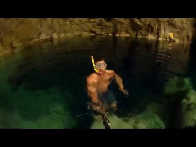Nurkowanie z rurką w jaskini Saturno (Kuba)