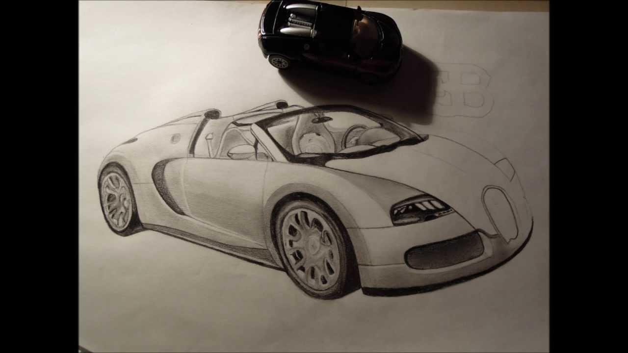 How To Draw An Amazing Bugatti Veyron Youtube