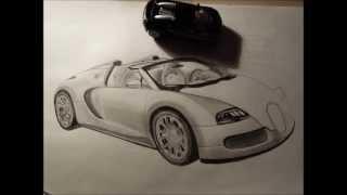 How to draw an amazing Bugatti Veyron