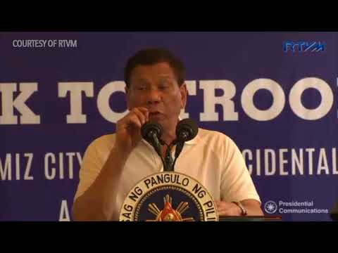 Duterte talks to troops at Ozamiz Police Station