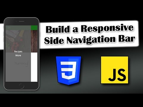 Build A Responsive Side Navigation Bar | CSS And JavaScript
