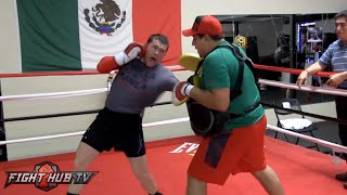 Canelo Alvarez killing the body as he puts finishing touches on Cotto camp