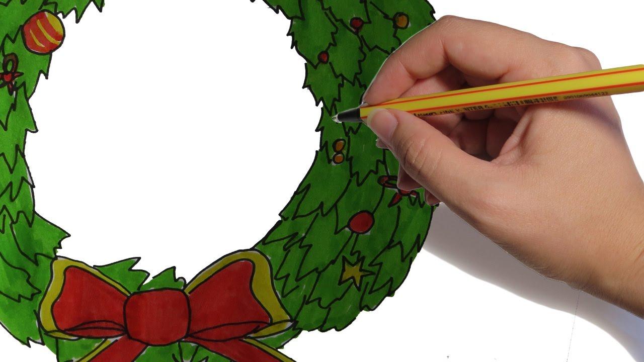 Como Dibujar Una Guirnalda De Navidad Paso A Paso Dibujos De