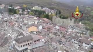 Terremoto adesso-amatrice sorvolo con ...