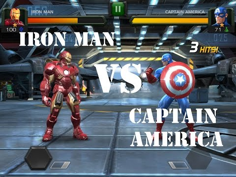 Marvel Contest of Champions - Iron Man vs Captain America - Quest 1 - Fight#3 - Act1 - Epic Fight!