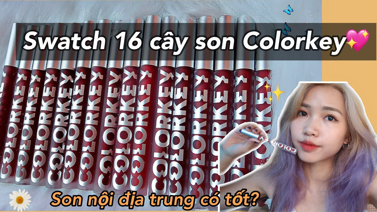 GIVE AWAY l Swatch ngay 16 cây son của Colorkey Airy Velvet Lip Lacquer? Minh Ngọc