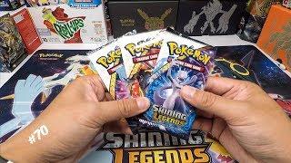 70. Opening Sun & Moon Shining Legends Booster Packs   Pokemon TCG