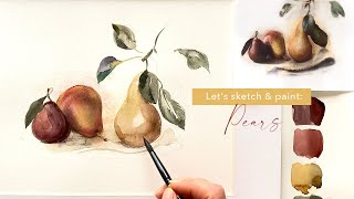 Painting a Simple Watercolor Fruit Still-Life