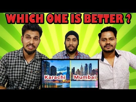 Indian Reaction On MUMBAI VS KARACHI | Infrastructure & Skyline Comparison (2018) | krishna Views