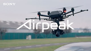 Shooting with the photo drone / video drone Airpeak