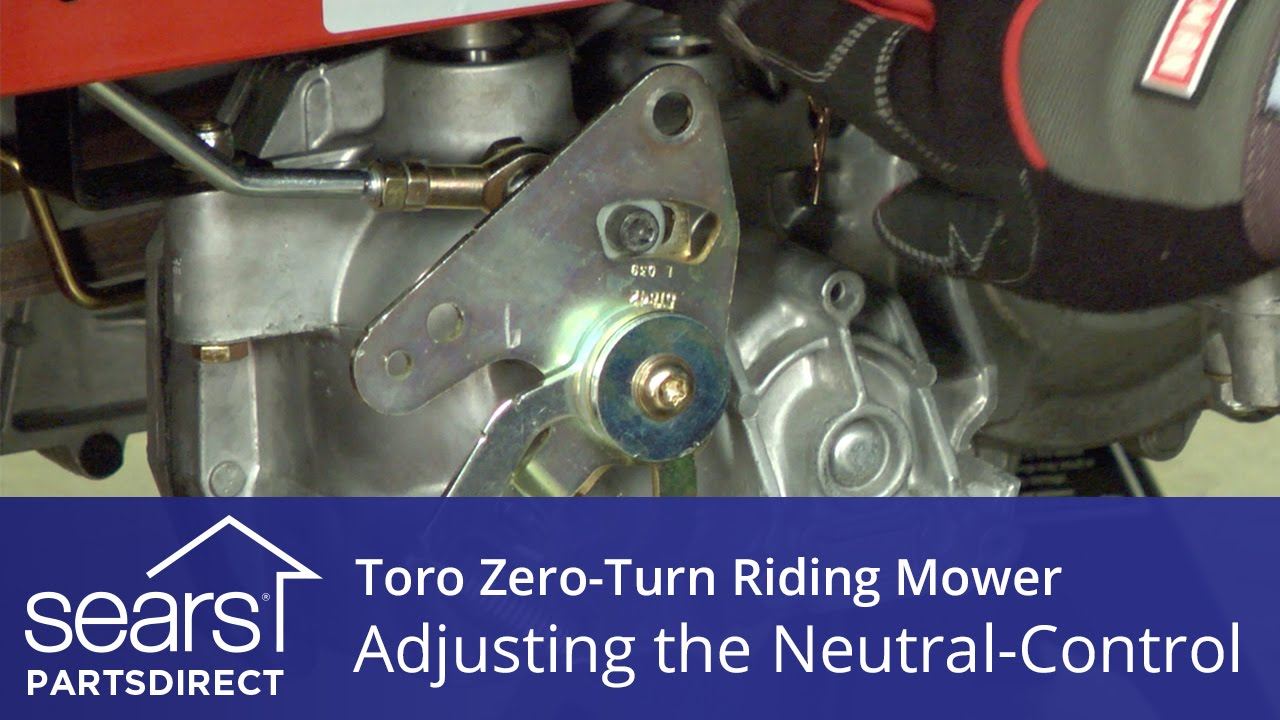 How To Adjust A Toro Zero Turn Riding Mower Neutral