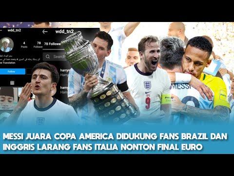 Messi Angkat Piala Argentina 🔥 Neymar Nangis Peluk Messi 👏 Inggris Larang Supporter Italia Nonton