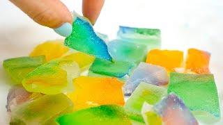 大流行! 食べる宝石 ♡ 韓国 で人気の ASMR 琥珀糖  作ってみた! 簡単レシピ 【 こうじょうちょー 】