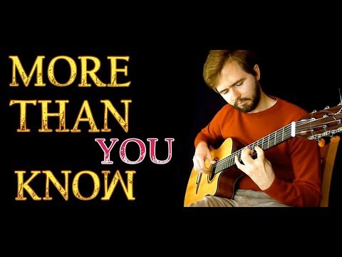 Axwell Λ Ingrosso - More Than You Know - Fingerstyle Guitar Cover + TABS