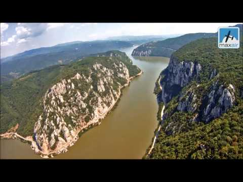 A flight over the Danube Canyon SW of Romania Drobeta Airfield
