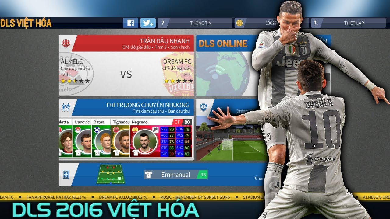 CTM   Hướng dẫn tải Dream League Soccer 2016 Việt Hóa