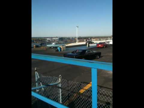 Lincoln Ls Race Car Vs Dodge Challenger Youtube