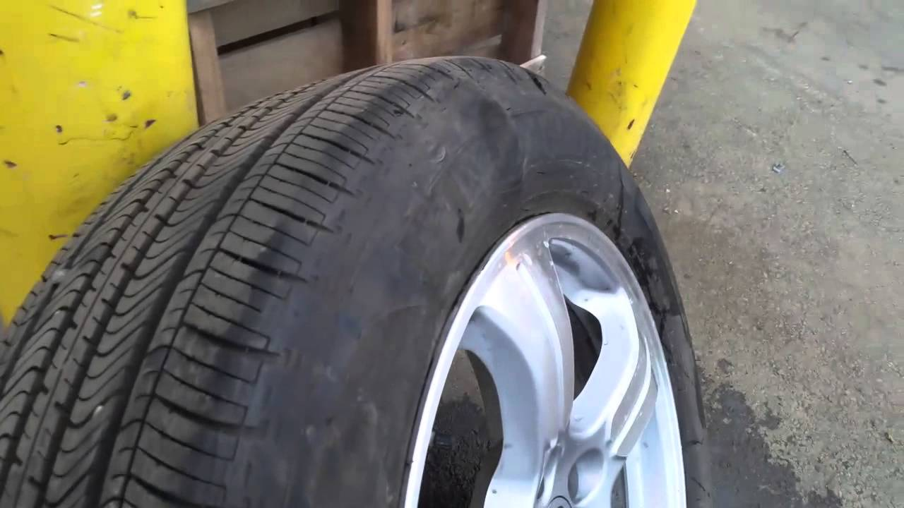 tire sidewall bubble fails youtube