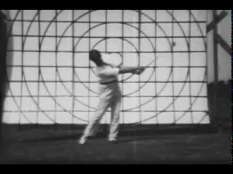Bobby Jones 1930 Golf Swing Analysis 16mm CinePost Restoration