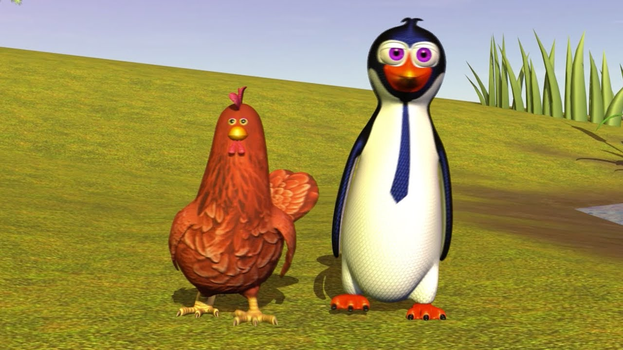 Il Pinguino E La Gallina Canzoni Per Bambini La Fattoria Di