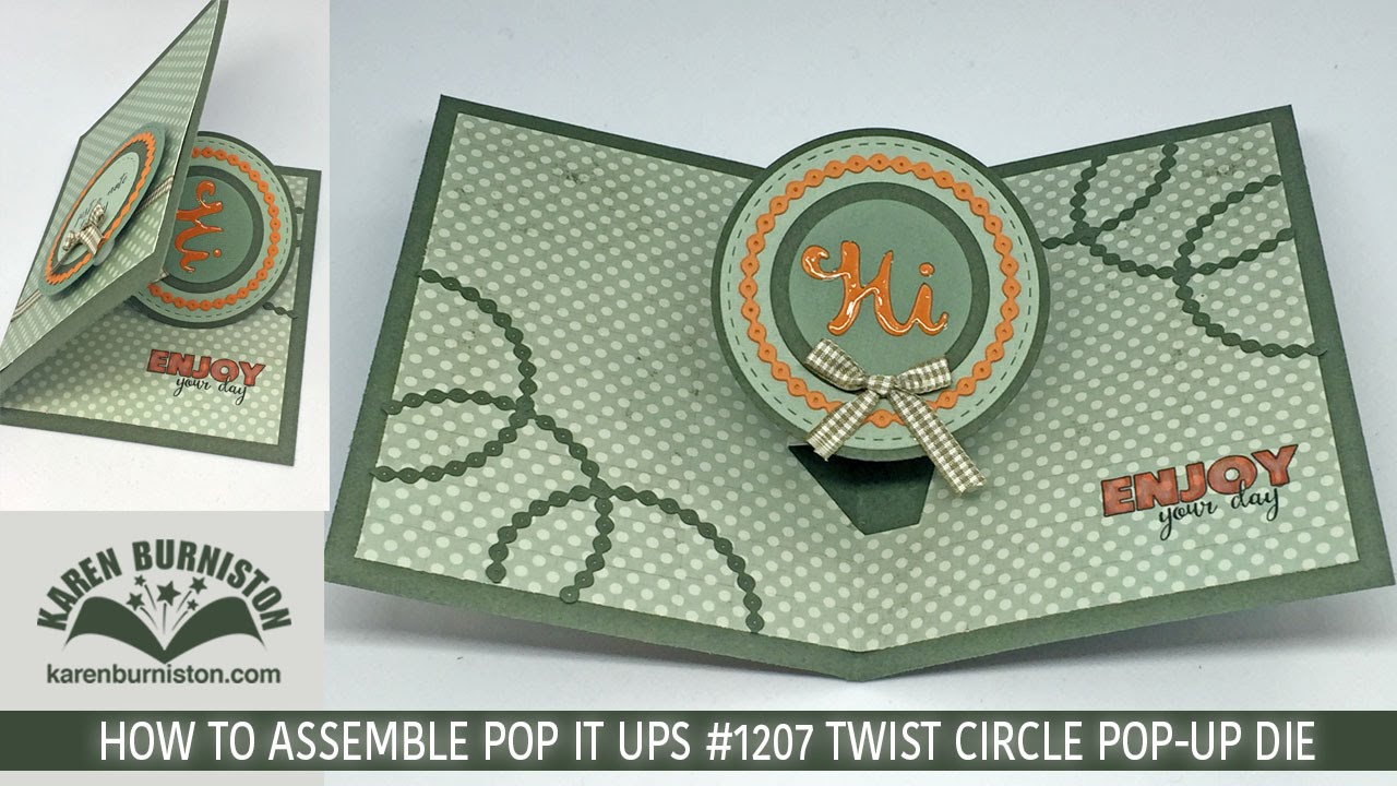 Pop It Ups 1207 Twist Circle Pop Up Die Set YouTube