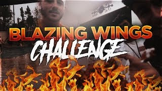 BLAZING BUFFALO WILD WINGS CHALLENGE!  **GOES CRAZY**