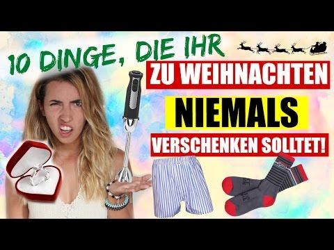 DINGE, die du an WEIHNACHTEN NIEMALS schenken solltest! | NO GOs