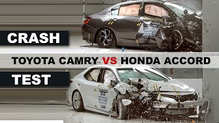 Crash Test Toyota Camry vs Honda Accord 2018 with top gear