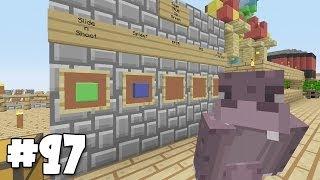 Minecraft Xbox - Sky Island Challenge - Hippo Vs Squid!! [97]