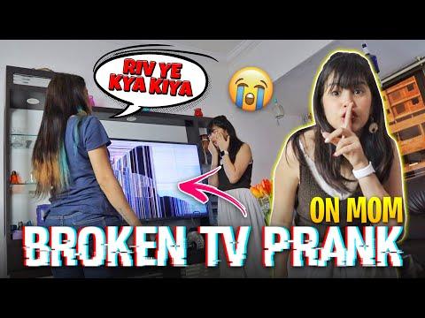 BROKEN TV 📺 PRANK ON MOM 😂😱|*GONE WRONG*| RIVA ARORA