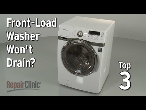 Top 3 Reasons Front-Load Washer Won't Drain?