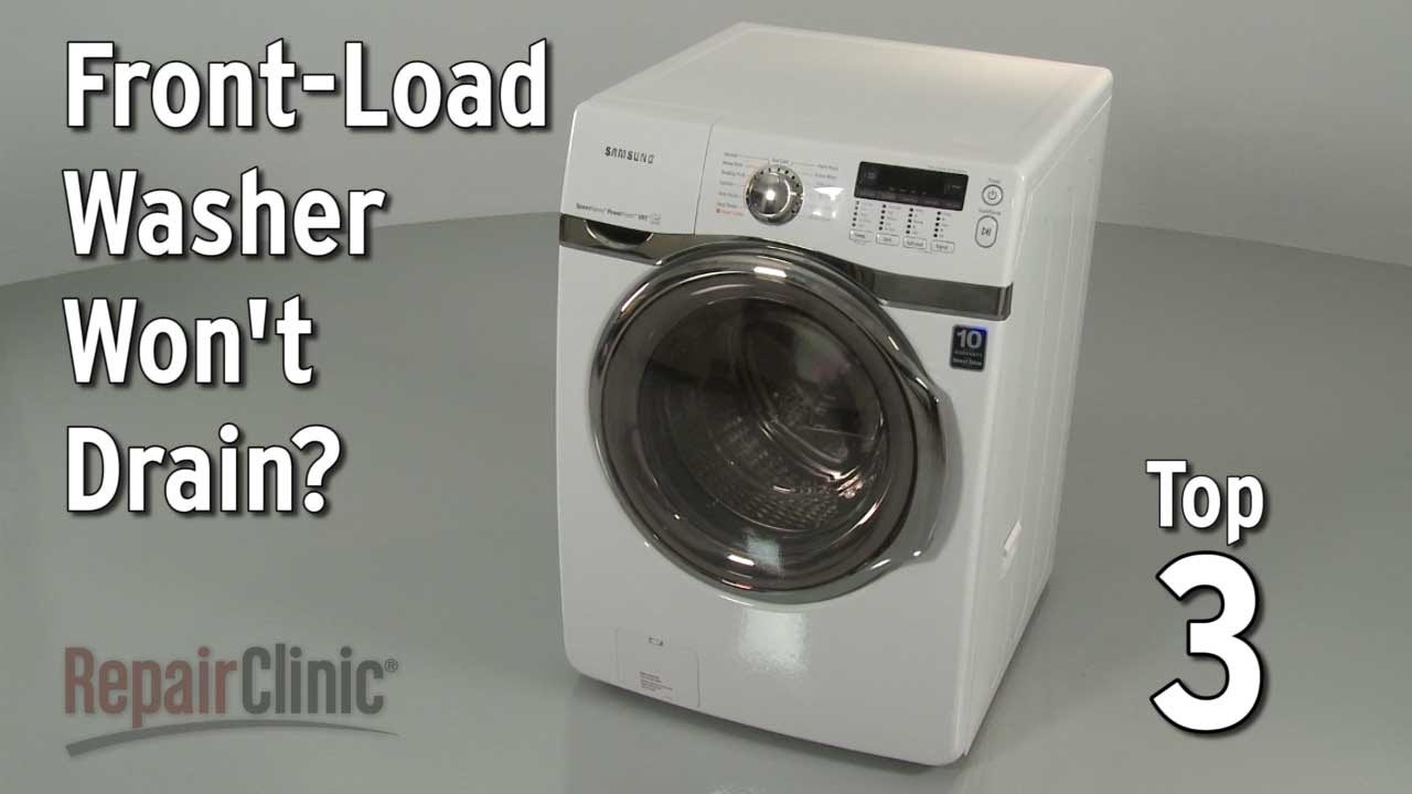 Washer Won T Drain Washing Machine Troubleshooting Youtube